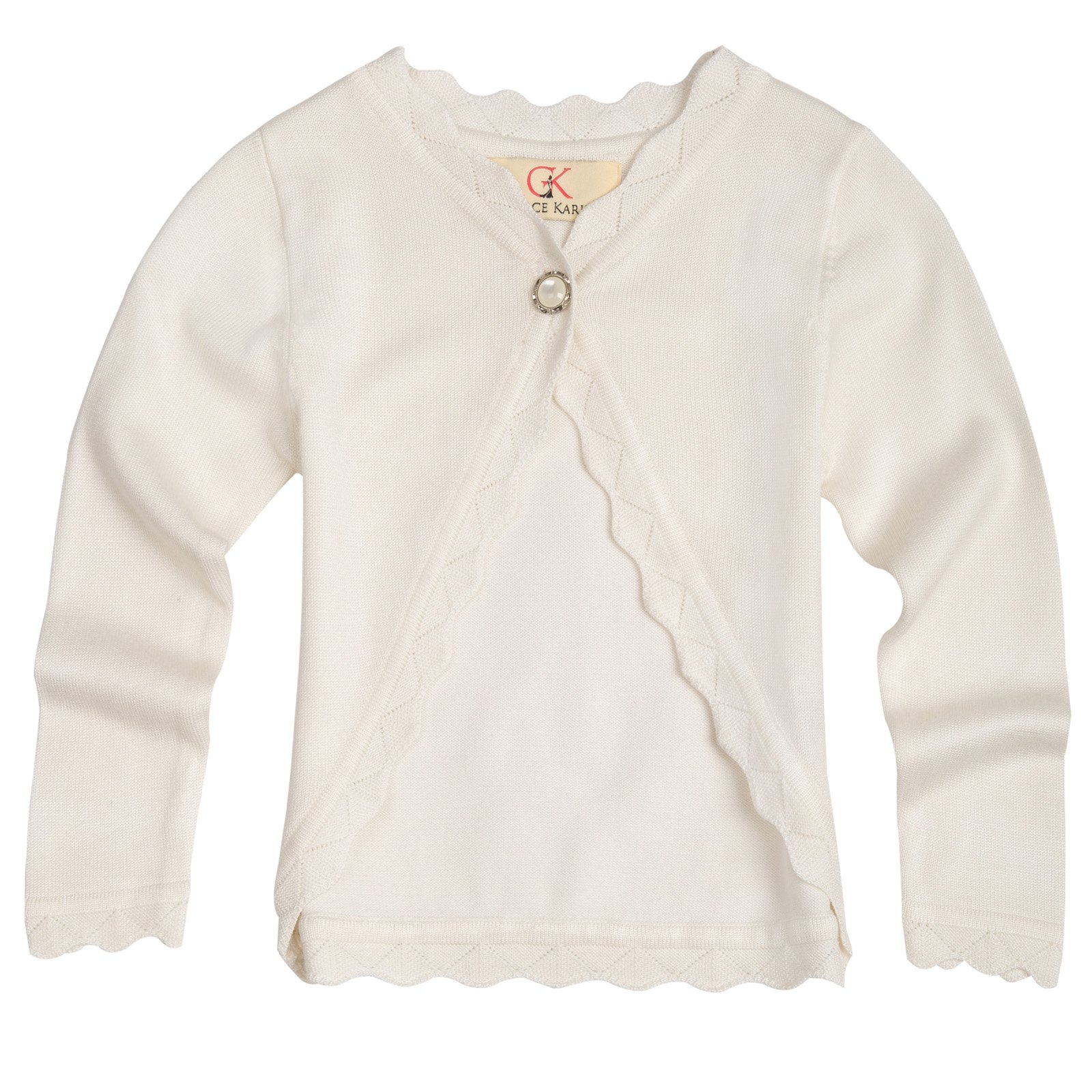 Baby Girls Cardigan Sweater One Button Bolero 7-8yrs AM1019-1