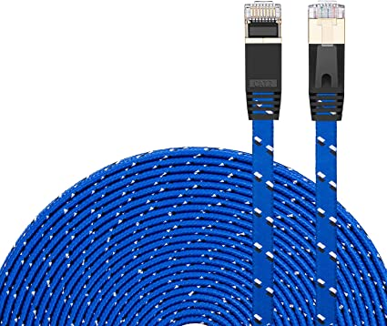 Built with Shielded RJ45 Connector Network Cables Computer Cables 3m Gold Plated CAT-7 10 Gigabit Ethernet Ultra Flat Patch Cable for Modem Router LAN Network