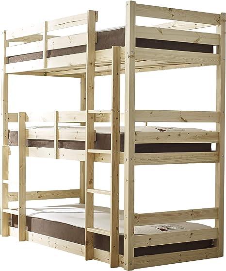 Litera de tres pisos, 90 cm, resistente: Amazon.es: Hogar