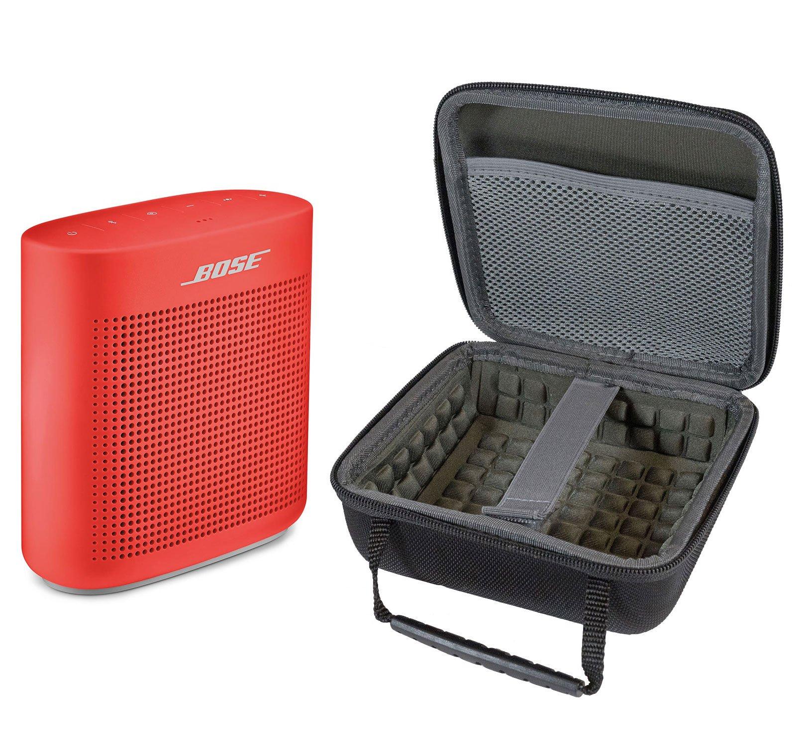 Bose SoundLink Color II Bluetooth Speaker, Coral Red, with Portable Hardshell Travel Case