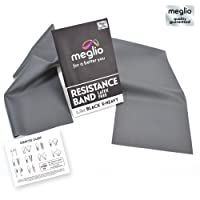 Meglio Latex Free Exercise Bands for Fitness Workouts & Physio - Exercise Guide Included