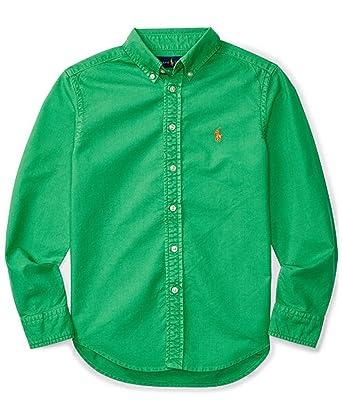 Amazon.com: Ralph Lauren Boys Monogram Long Sleeves Button-Down ...