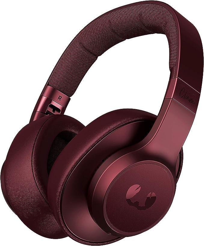 Auriculares Fresh n Rebel Clam ANC Ruby Red | Auriculares Bluetooth para colocar sobre las orejas con reducción activa de ruido