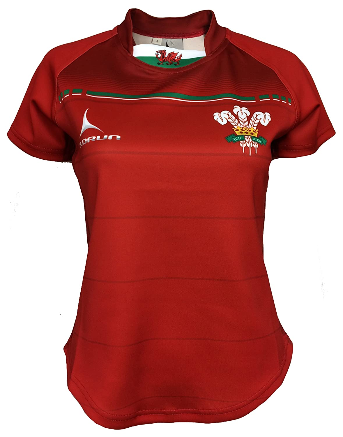Olorun VI Nations Ladies Exofit Wales Sublimated Rugby Shirt 8-18 Olorun-Sports