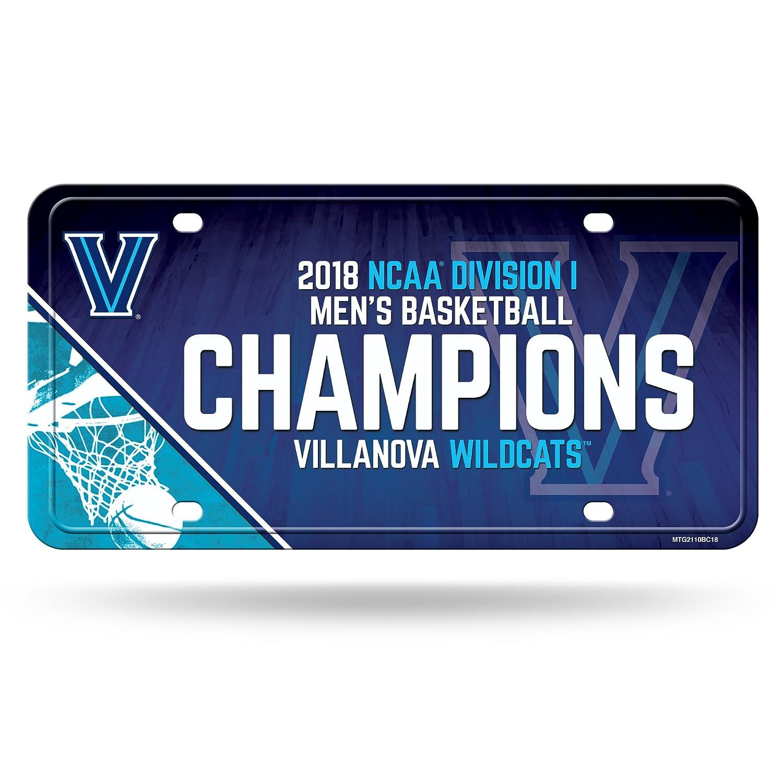 MTG2110BC18 NCAA Villanova Wildcats 2018 Mens National Basketball Champions Metal License Plate Tag Rico Industries Inc