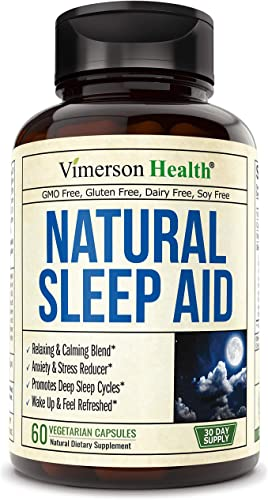 Natural Sleep Aid Pills with Valerian, Melatonin and Natural Herbs. Premium Quality Sleeping Supplement with Chamomile, Vitamin B6, L-Tryptophan, Ashwagandha, L-Taurine, St. John s Wort, L-Theanine