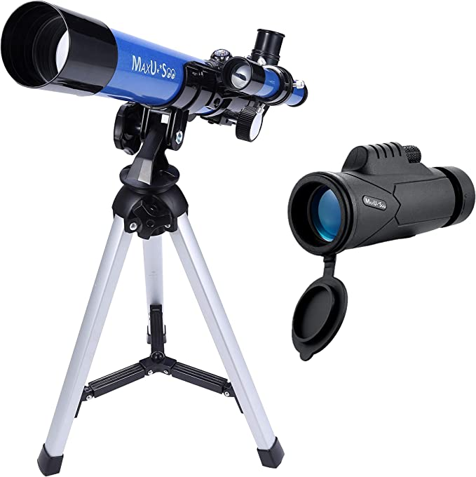 Astronomy Beginners Gifts 70mm Aperture 400mm Focal Length Monocular with Tripod /& Finder Scope Telescope for Kids /& Adults Day /& Night Vision Refractor Telescope for Bird Watching Camping