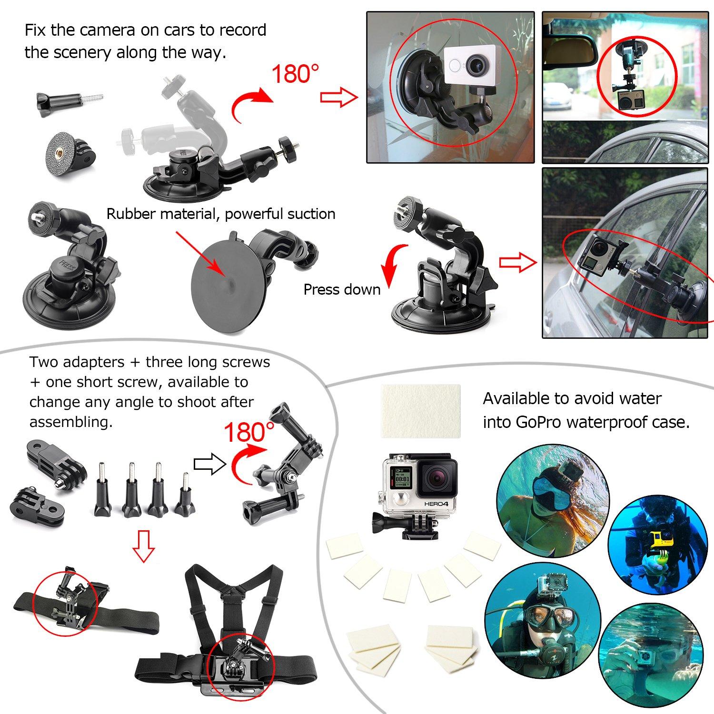 Accesorios para GoPro Hero 4 3+ 3 2 Zookki Esencial por solo 19,99€