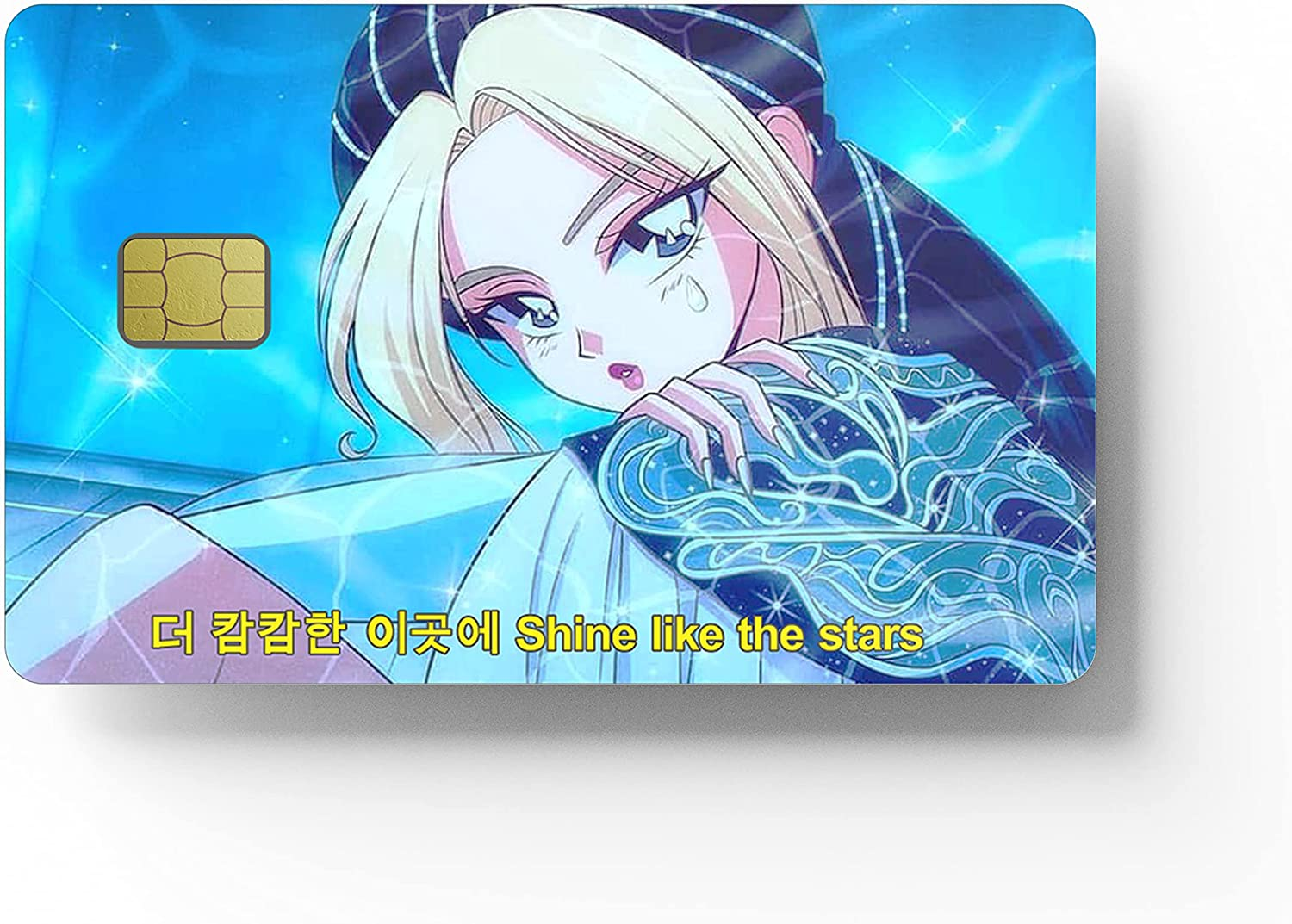HK Studio Card Sticker with K-Pop Jennie BP | High-Performance Vinyl Sticker for Key Card, Transportation, Debit, Credit Card Skin | Protecting & Personalizing Bank Card | Bubble Free, Super Slim, Waterproof Cover for Card