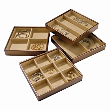 Amazoncom Stock Your Home Stackable Jewelry Organizer Trays Set