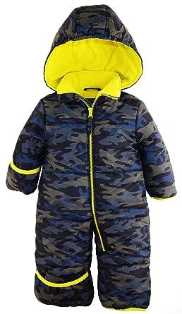 97ff29c803b7 Amazon.com  iXtreme Baby Boys Army Camo Puffer Winter Snowsuit Pram ...