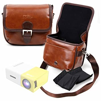 DURAGADGET Bolsa Profesional marrón con Compartimentos para ...