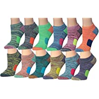 Tipi Toe Women's 12-Pairs Low Cut Athletic Sport Peformance Socks