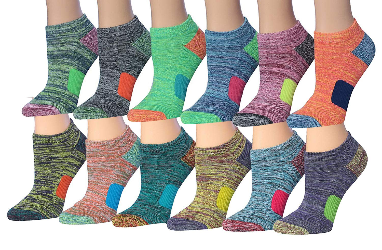 48c5a0386664f Tipi Toe Women s 12-Pairs Low Cut Athletic Sport Peformance Socks product  image
