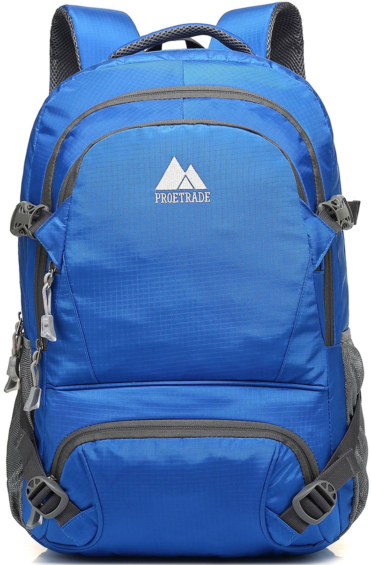 Extra Large School Backpack For College Travel Hiking Fit Laptop Up to 17 Inch Water Resistant (Blue A)