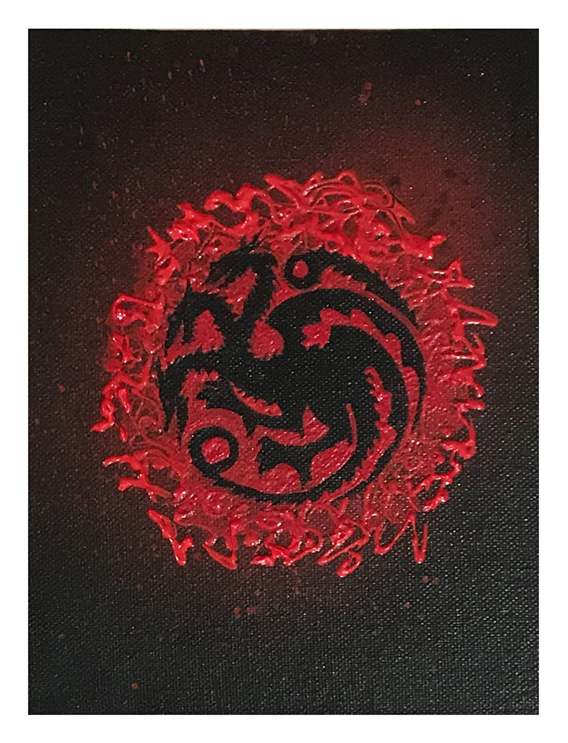 Inbox Design I Game Of Thrones Hand Painted Canvas Board I