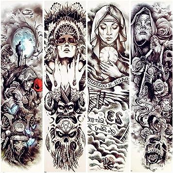 Tatuajes Temporales 48X17 Cm Hombres Grandes Brazo Manga Tatuaje ...