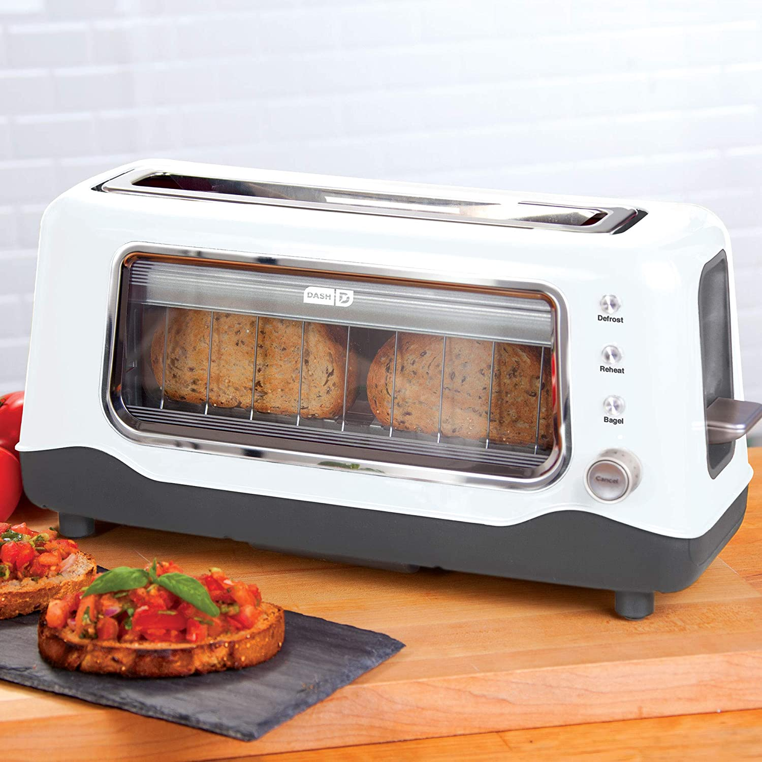 Dash DVTS501WH Clear View Toaster