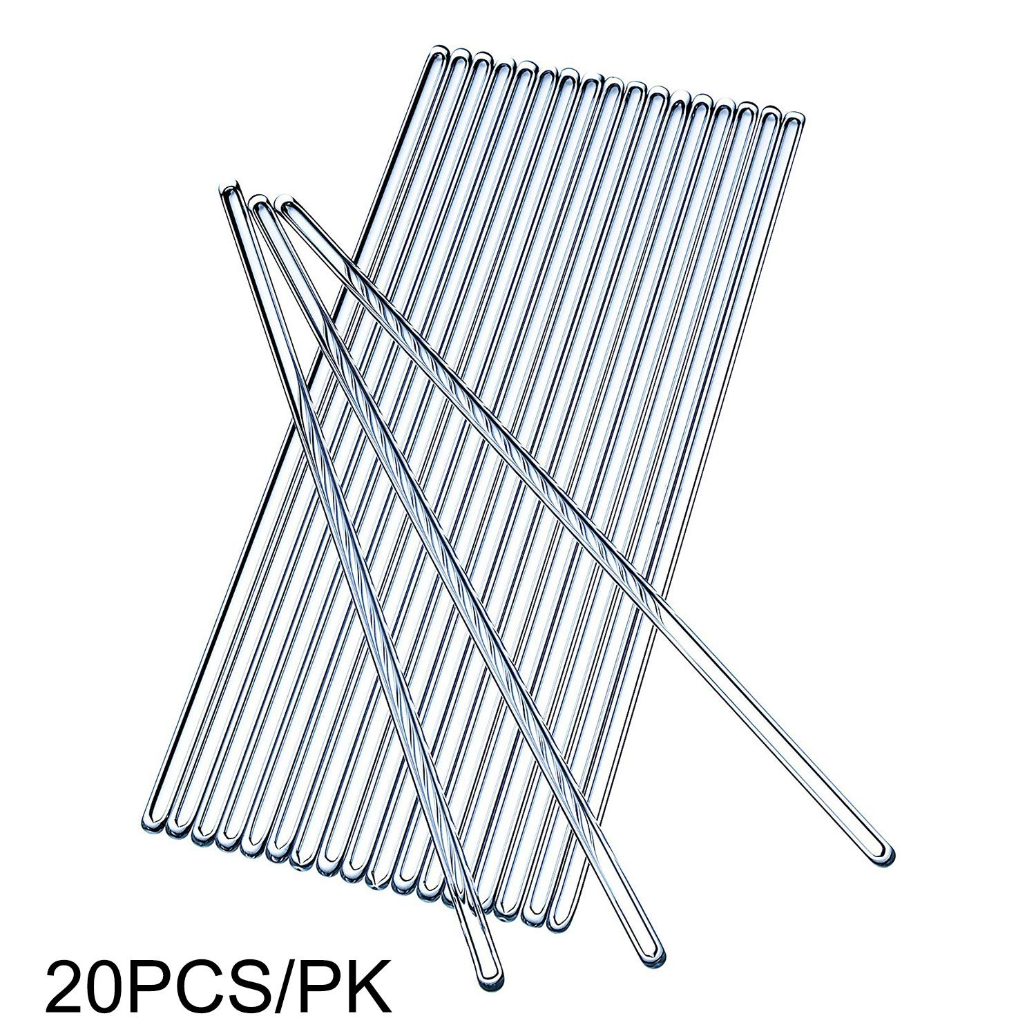 HFS (R) Glass Stirring Rod 20PCS x 250 mm (9.8 Inch) by HFS