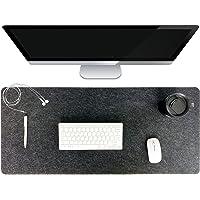 Desk Mat, Black Felt Desk Pad,Large Mouse Mat Pad,35.5X 15.8(900x400) Extra Large Keyboard Mat, Computer XL Desk Pad…