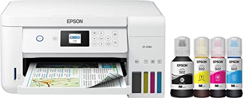 Epson EcoTank ET-2760 All-in-One Color Supertank Wireless Printer w/Scanner and Copier (Cartridge-Free)