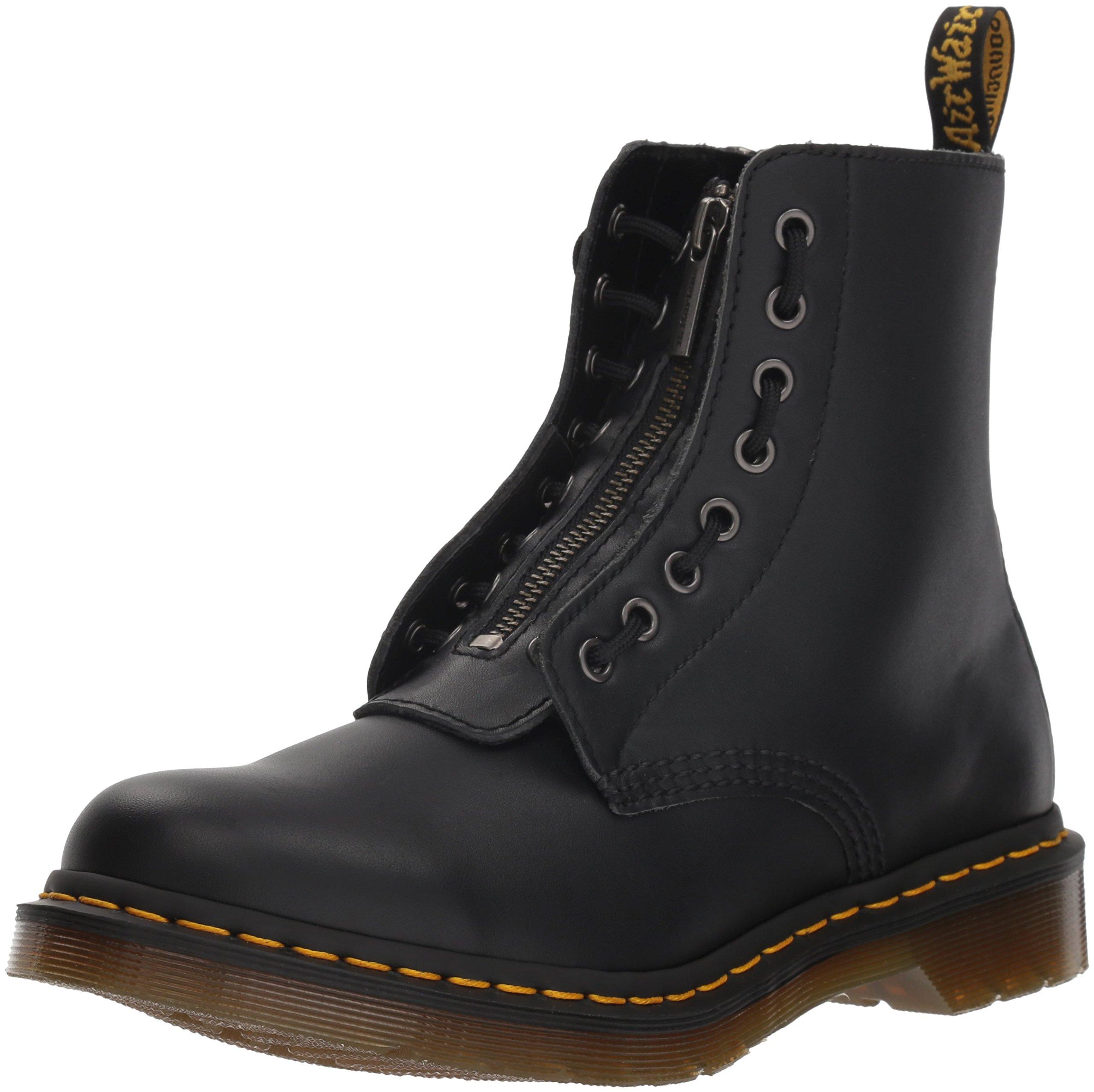 Dr. Martens Women's 1460 Pascal FRNT Zip Mid Calf Boot, Black, 6 M UK (8 US) by Dr. Martens
