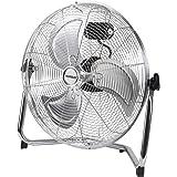 Yorbay ventilatore da pavimento, 45 cm, in metallo, 3 livelli di velocità, con inclinazione regolabile, certificazione GS
