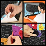 Premium Scratch Off USA Map   Black Personalized