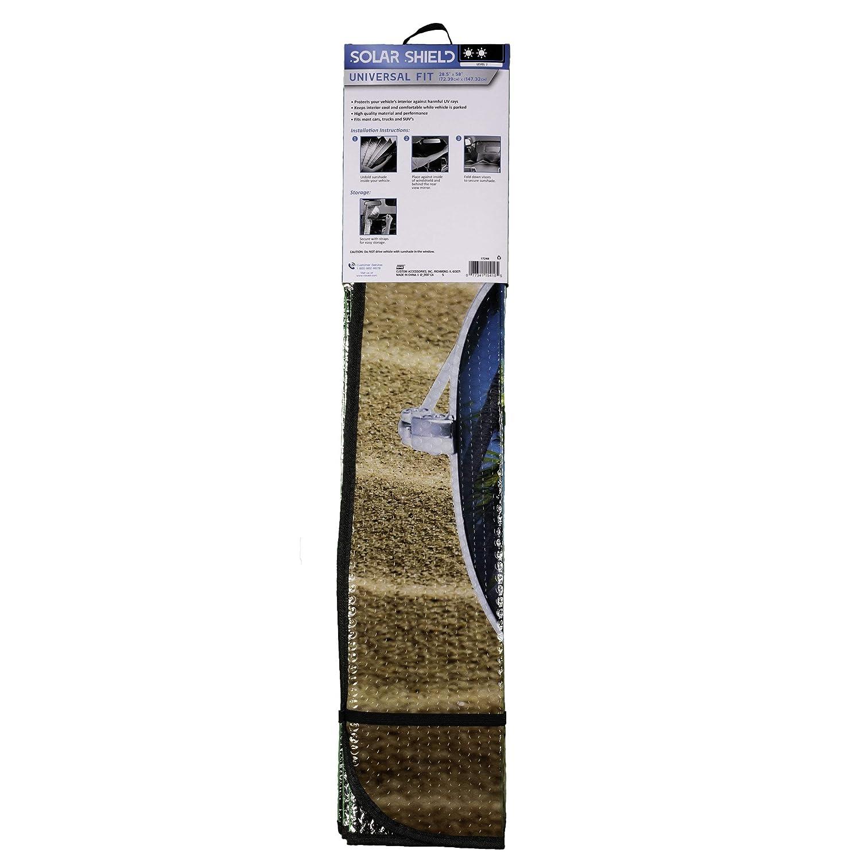 28.5-Inches x 58-Inches 17248.0 Custom Accessories 17248 Solar Shield Beach Bum Folding Sunshade