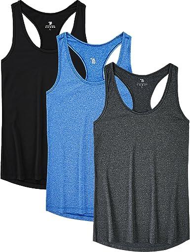 UK Womens Yoga Sleeveless Shirt Tank Tops Racerback Gym Fitness Slim Fit T-Shirt
