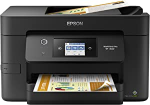 "Epson Workforce Pro WF-3820 Wireless All-in-One Printer with Auto 2-Sided Printing, 35-Page ADF, 250-sheet Paper Tray and 2.7"" Color Touchscreen, Works with Alexa"