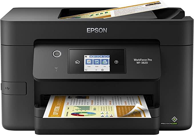 Epson Workforce Pro WF-3820 Wireless Inkjet All-in-One Color Printer, C11CJ07201: Electronics