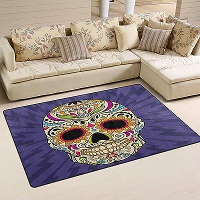 tapis salon tête de mort 1