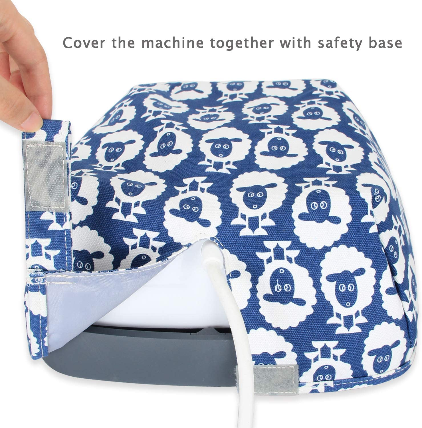 Luxja Dust Cover Compatible with Cricut Easy Press Sheep 9 Inches x 9 Inches