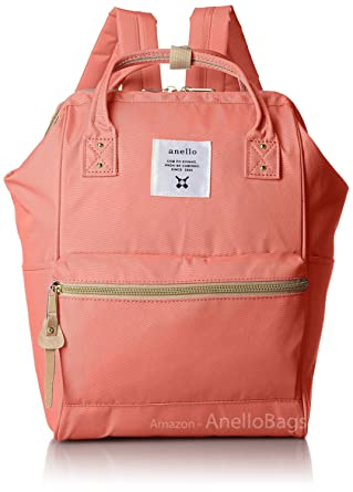 b72dff4f1b72 Japan Anello Backpack Unisex MINI SMALL CORAL PINK Rucksack Canvas Bag  Campus