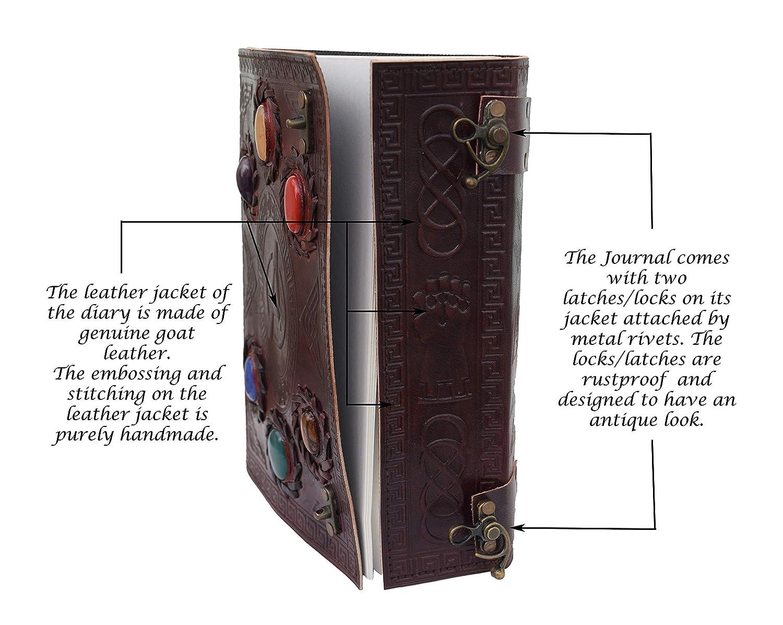 Doctor Strange Eye of Agamotto Embossed Handmade Stone Leather Journal Art Dairy