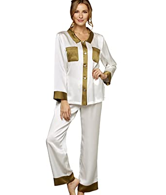 c1460349c5 Julianna Rae Women s My Newest Crush 100% Silk Pajamas at Amazon ...