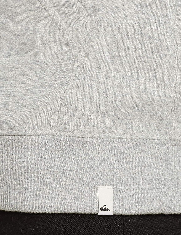 Quiksilver Men's Eqyft03856 Big Logo Long Sleeve Fleece Top Light Grey Heather
