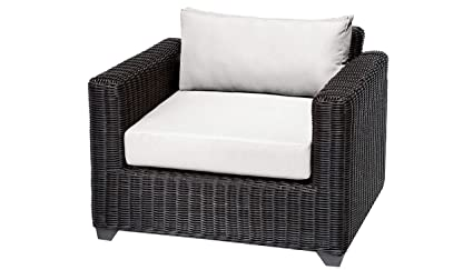 Amazon.com: TKC Venice Patio silla de Club de mimbre en ...