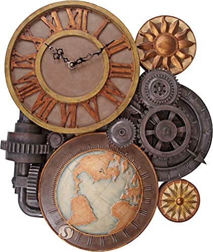 Design Toscano Gears of Time Steampunk Wall Clock Sculpture