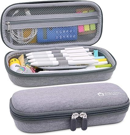 Aiscool - Estuche duro para lápices (gris): Amazon.es: Oficina y papelería
