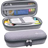 Aiscool Hard Pen Pencil Case Pouch Holder Bag Big Capacity Stationery Box for School Supplies Office Stuff (Gray)