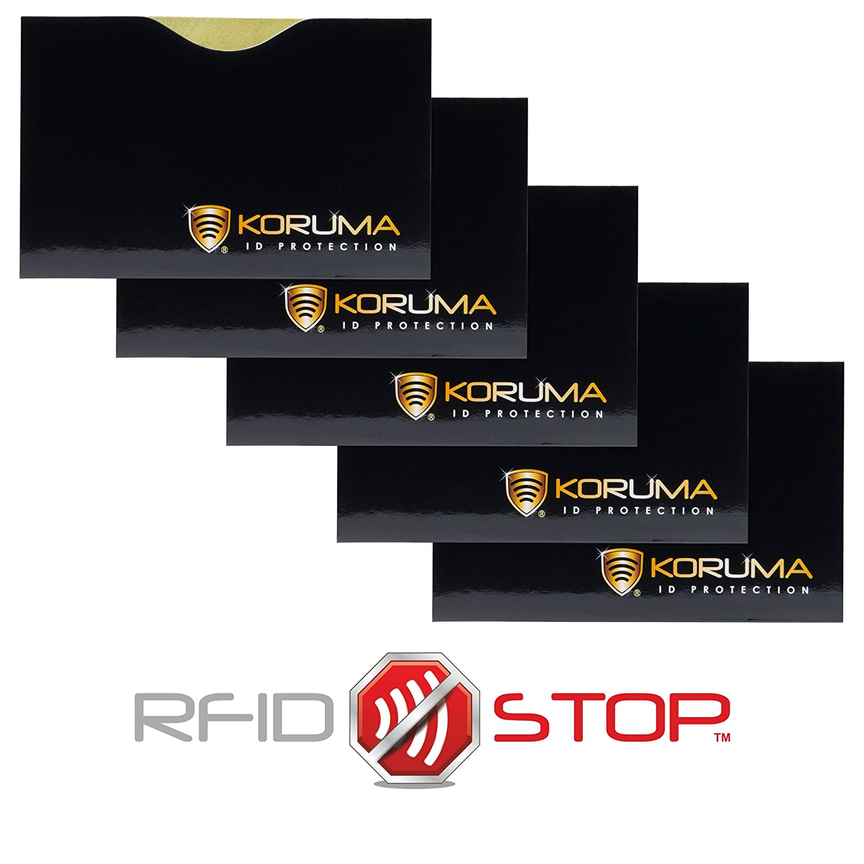 Koruma - RFID NFC BLOQUEO SIN CONTACTO TARJETAS DE MANGA PROTECTOR (HBLG 5)