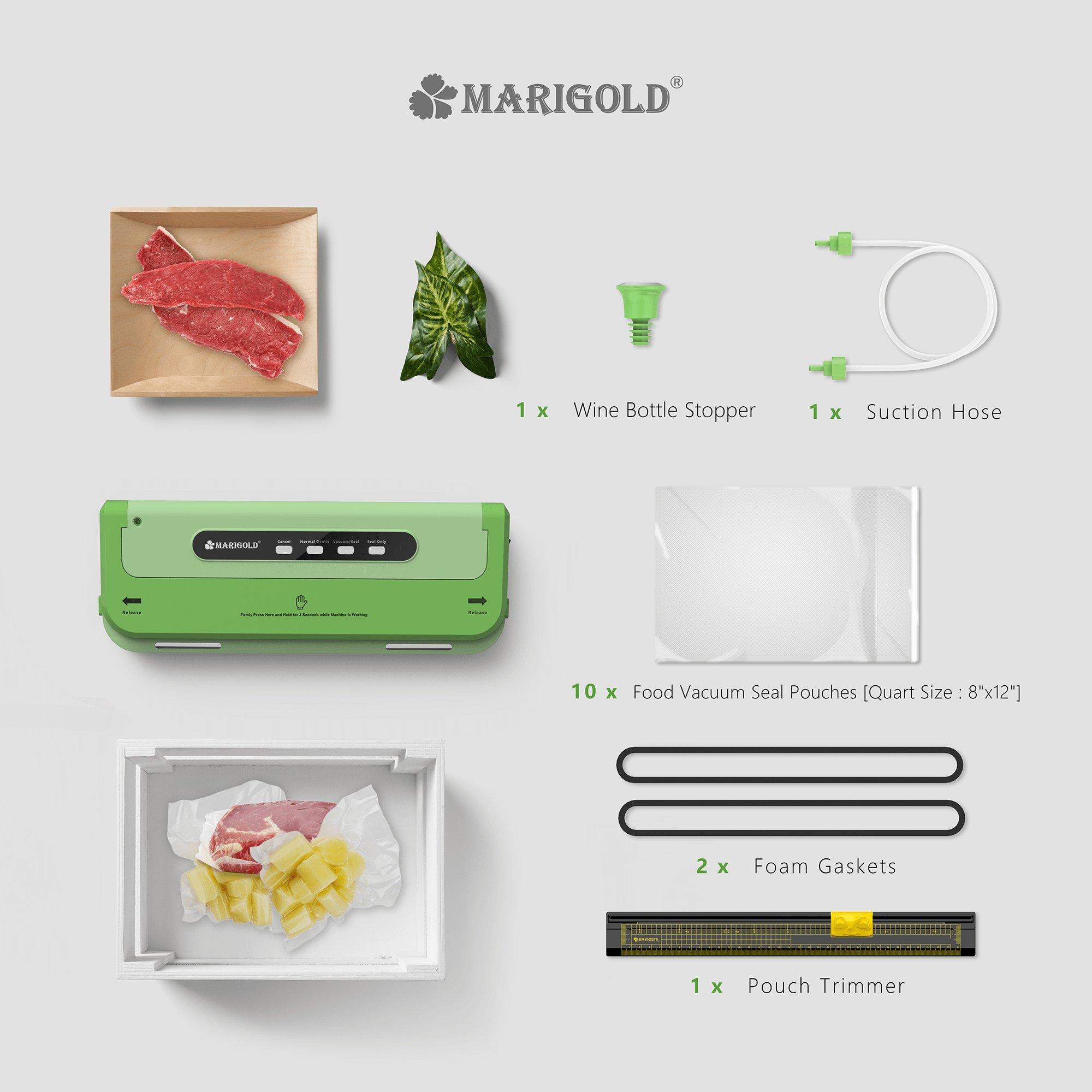 MARIGOLD Food Vacuum Sealer Machine w/Starter Kit (FVS1701) by MARIGOLD (Image #2)