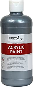 Handy Art Student Acrylic Paint 16 ounce, Metallic Silver