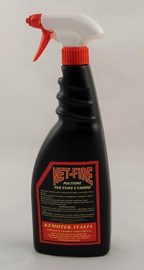 Net Fire ml 750 Limpieza tintes Limpiador de estufas de pellets pellets Chimenea Horno Rejilla cristales