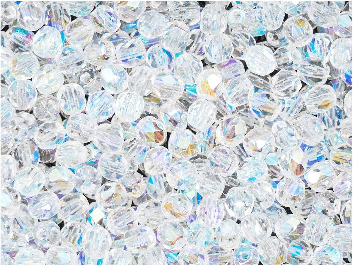 wholesale 6mm faceted AB Clear Round Plastic loose beads FREE SHIPPING 500