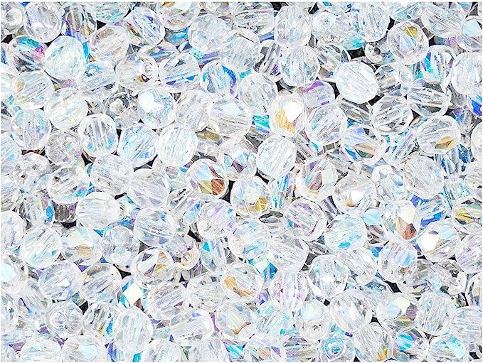 60pcs Mixed Blue /& Brown Czech Glass Round Beads GB469 4mm