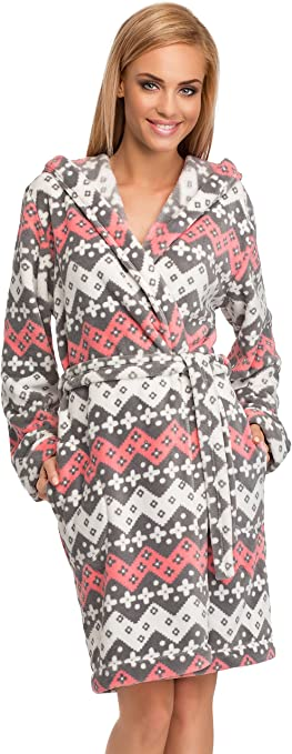 TALLA XL. L&L Bata con Capucha Ropa de Casa Mujer LL0106