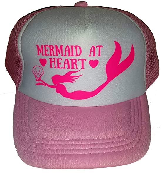Amazon.com  ThatsRad Toddler Kid s Mermaid At Heart Mesh Trucker Hat ... bec0d0817d6